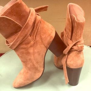 Banana Rep booties Cognac color